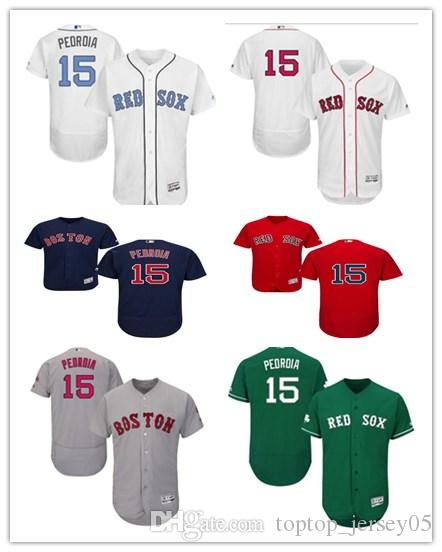 new concept 5a4b6 e56be 2018 can Boston Red Sox Jerseys #15 Dustin Pedroia Jerseys  men#WOMEN#YOUTH#Men's Baseball Jersey Majestic Stitched Professional  sportswear