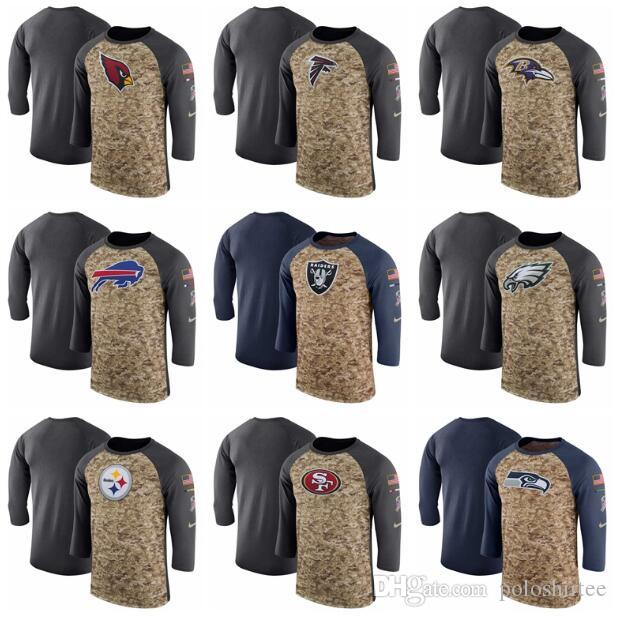 2019 Men Oakland Raiders Philadelphia Eagles Steelers 49ers Tennessee Titan  Camo Anthracite Salute To Service Sideline Legend Performance T Shirt From  ... cf2896a88