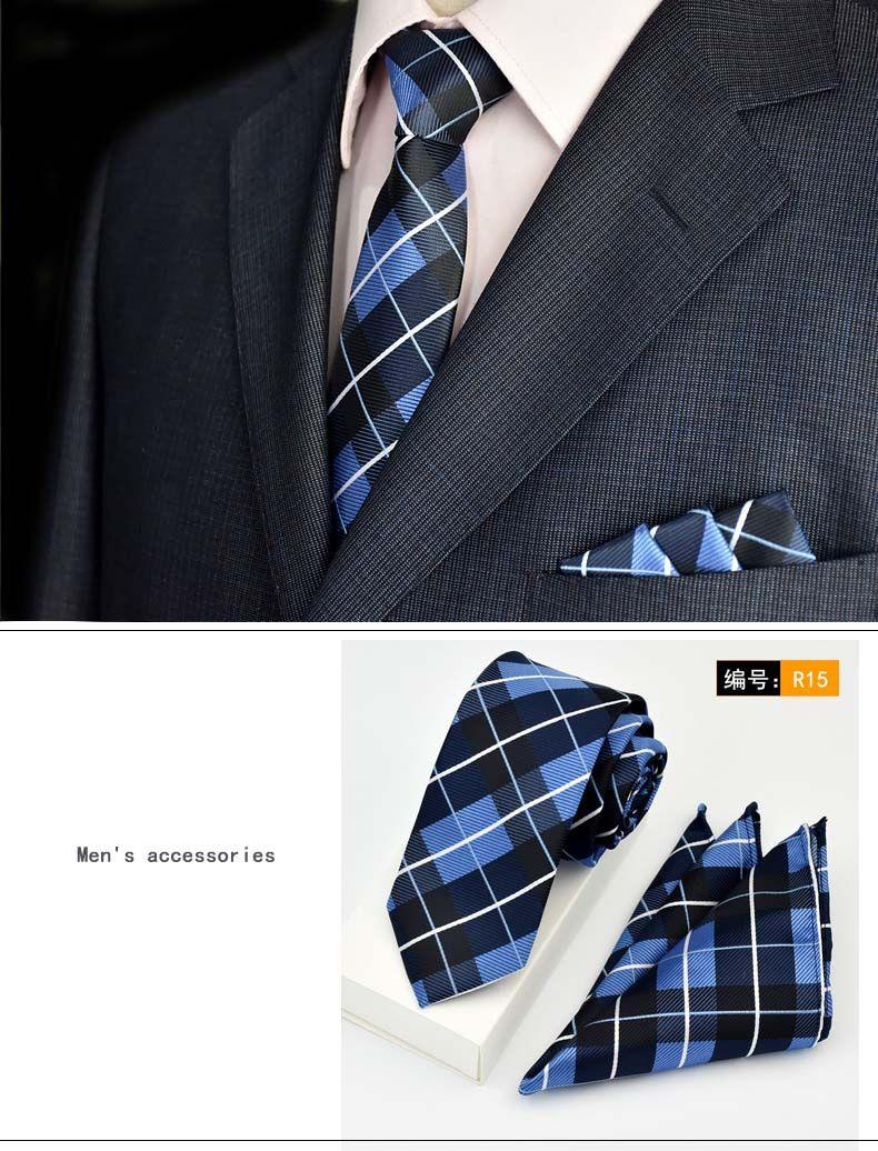 Men's Ties & Handkerchiefs Men Cravat Tie Cotton Handkerchief Bow Ties Striped Pocket Square Hanky Wedding Party Necktie Man Striped Shirt Gift Accessorie