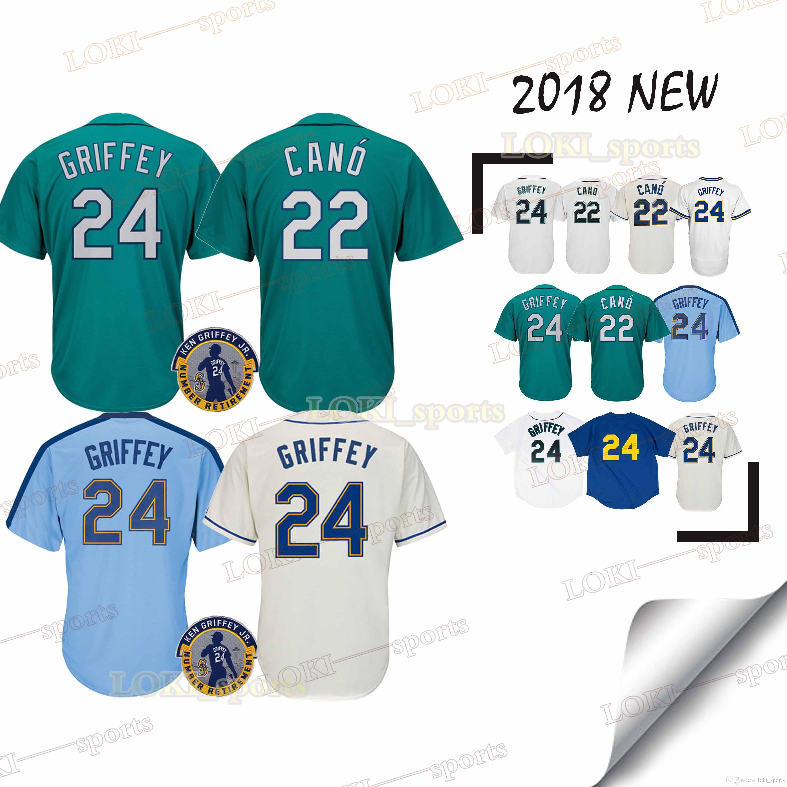 save off 99461 dfdc4 Seattle Mariners jerseys 22 Robinson Cano 18/19 New 100% Stitched superior  quality Top MEN Jersey 2019
