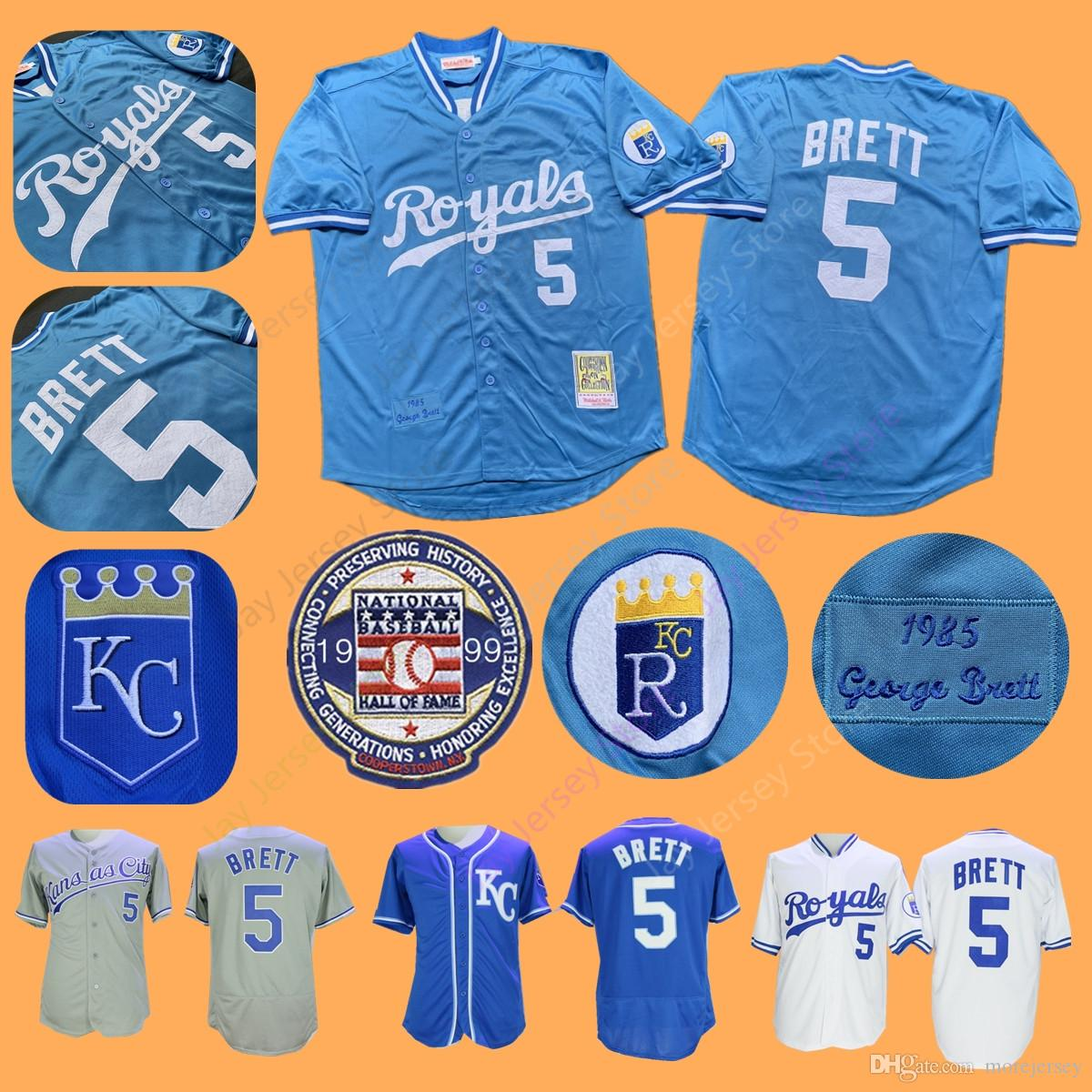 7e647e0f 2019 Royals 1985 George Brett Jersey With 1999 Hall Of Fame Patch  Cooperstown Royals Home Away Blue White All Stitched From Morejersey,  $16.26 | DHgate.Com