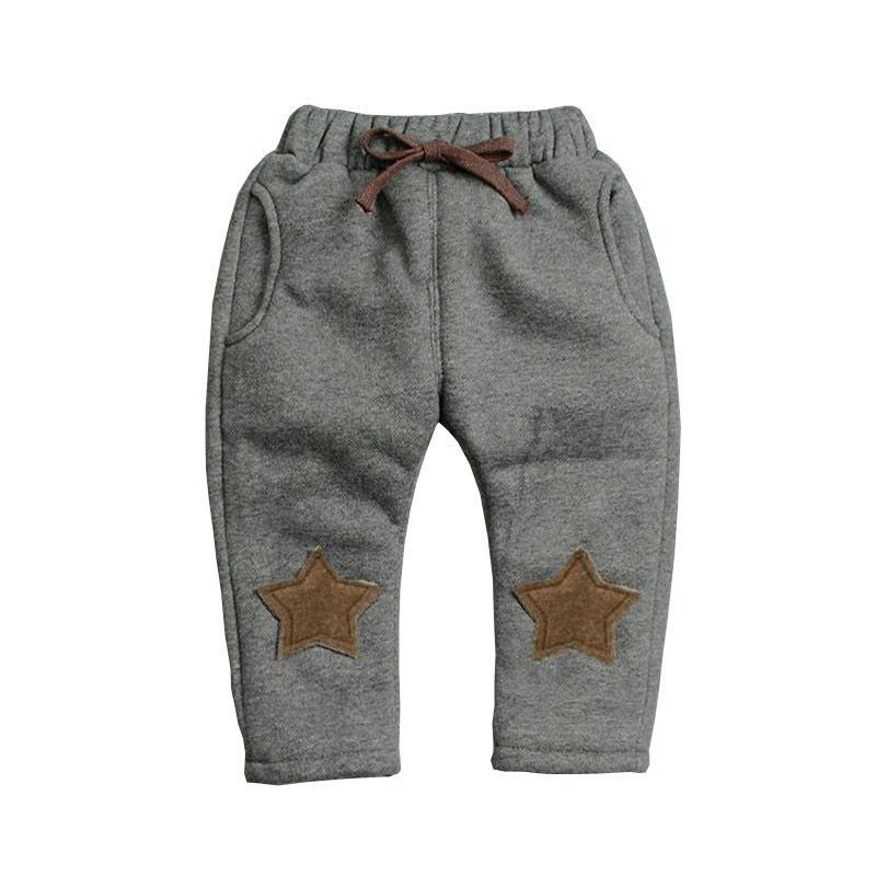 83489d2c5 Acheter Bon Qulaity Automne Hiver Enfants Pantalon Bebe Sport Coton Pantalon  Casual Enfants Polaire Velours Leggings Chaud Garçons Pantalon Bebe Tenues  De ...