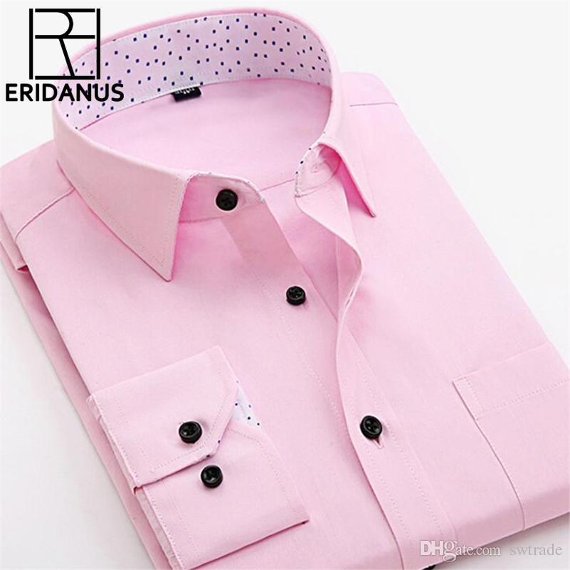 41b1a753d431 2019 Men Shirt 2017 New Arrival Patchwork Dot Collar Brand Business ...