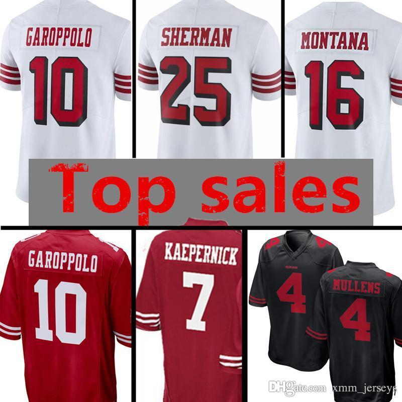 edbd40aee San Francisco 49ers 10 Jimmy Garoppolo 4 Nick Mullens 25 Richard ...