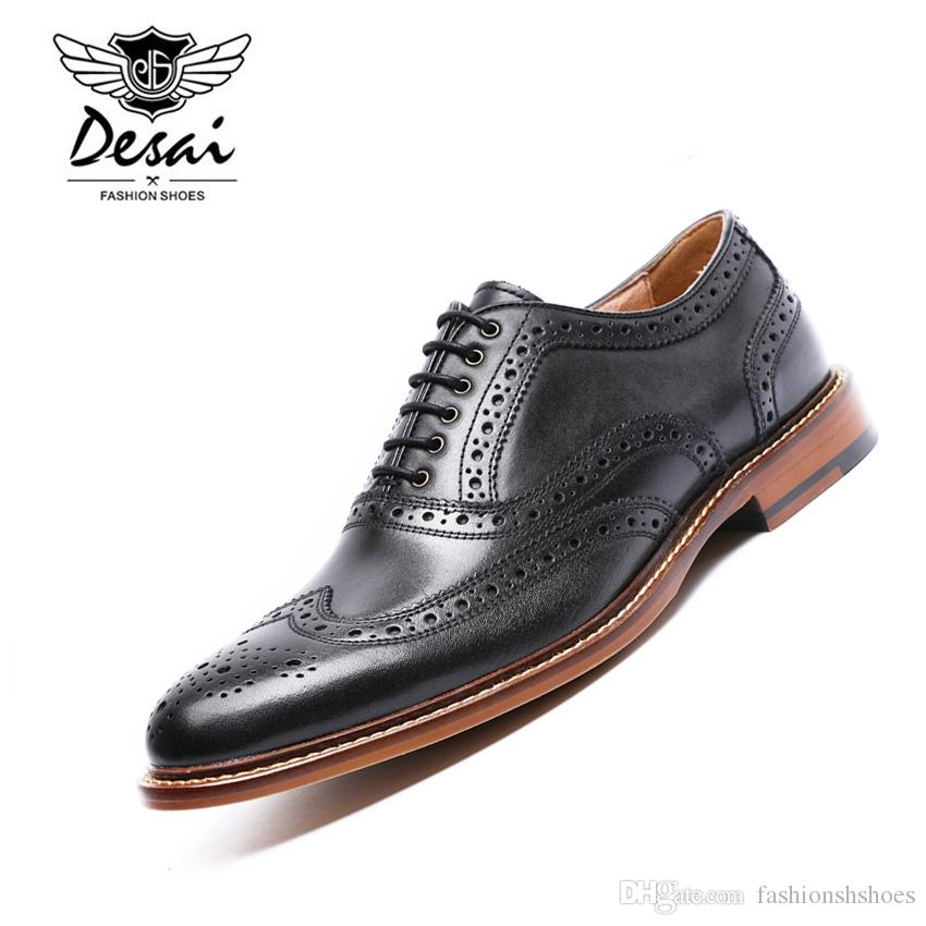 Desai Brand Men Shoes High Quality Genuine Leather Shoes Men Business Suits Luxury Male Leather Dress Men Shoes Size 38-43 Various Styles Formal Shoes Men's Shoes