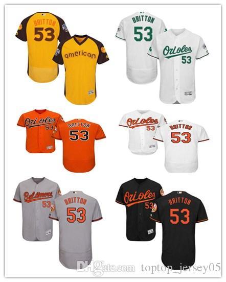 new style 8f0bf b4586 2018 Baltimore Oriole Jerseys #53 Zach Britton Jerseys men#WOMEN#YOUTH#Men  s Baseball Jersey Majestic Stitched Professional sportswear
