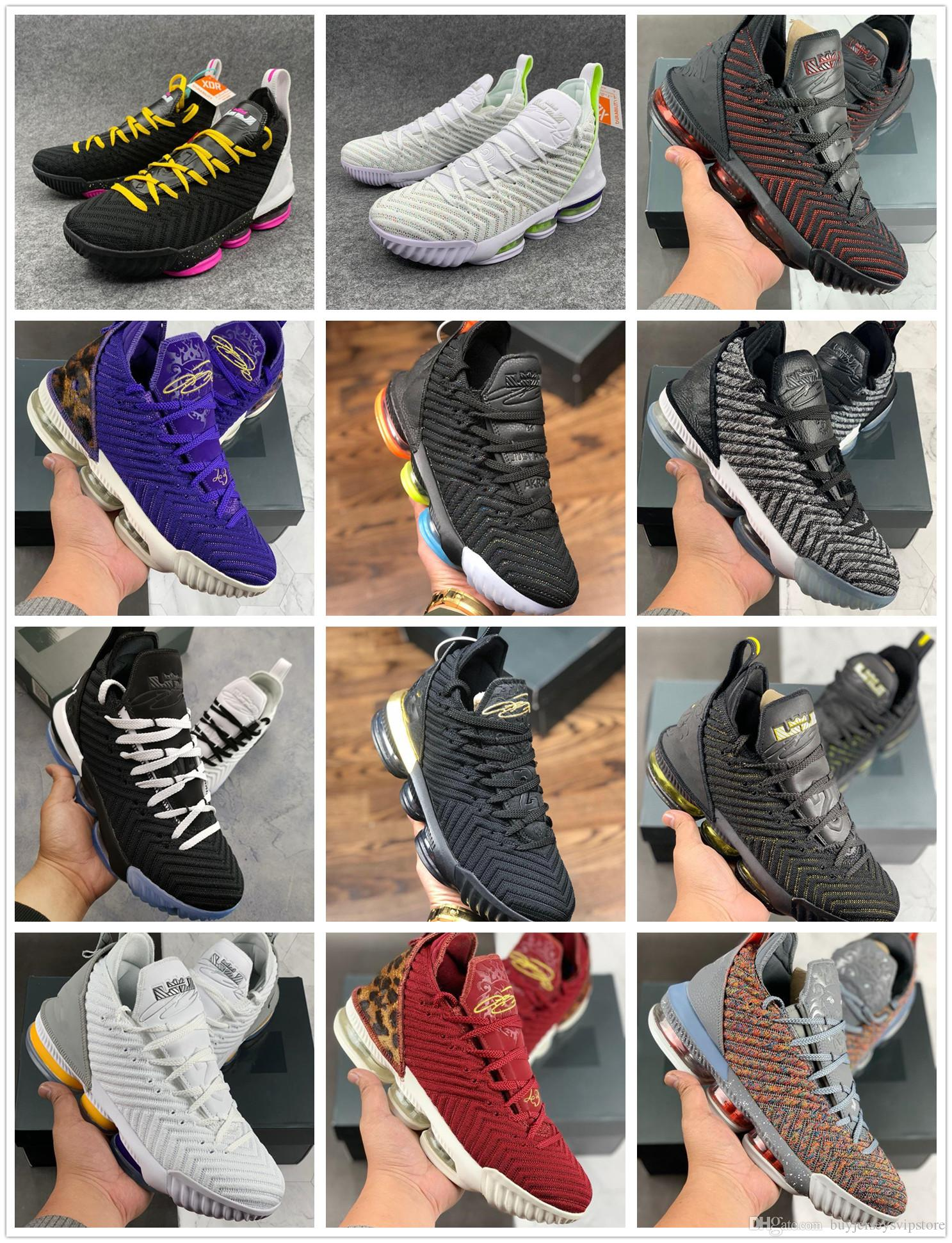 separation shoes 64b53 abaa1 2019 New Release Lebron 16 Equality King Court Purple I Promise King Fresh  Bred 1 Thru 5 Oreo What The LBJ 15s 7-12