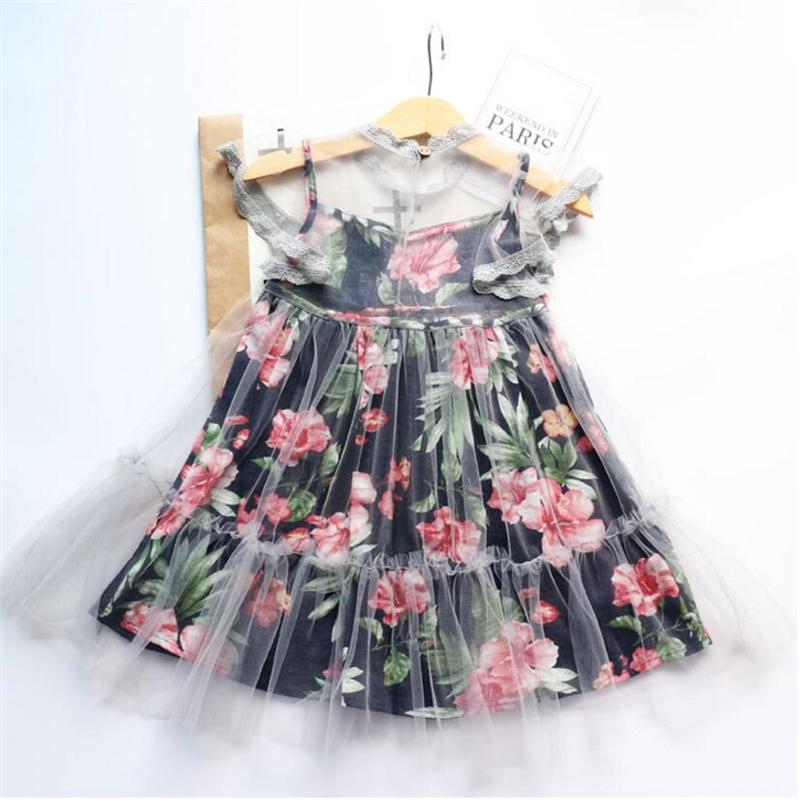 c15568a0b 2019 Good Quality Girls Cotton Dress Summer Children S Lace Print ...