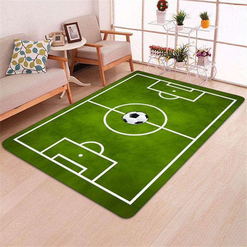 Moderner Teppich 3D Fußball Teppiche Flanell Teppich Memory Foam Teppich  Jungen Kinder Spielen Kriechmatte Große Teppiche für Zuhause Wohnzimmer  Decke