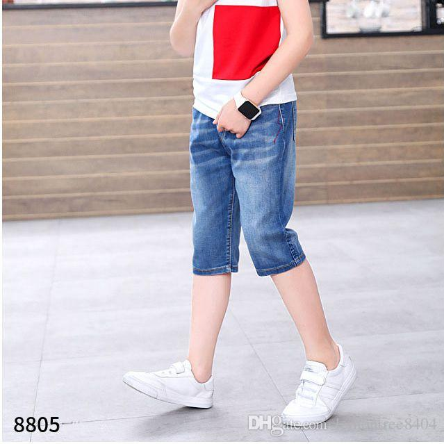568e9244a Mid Jeans Shorts Toddler Boys Sports Coustum Soft Denim Summer Beach Shorts  Bottom Clothes For Girl Pants Cotton Shorts 110 160cm Skinny Jeans For Girls  ...