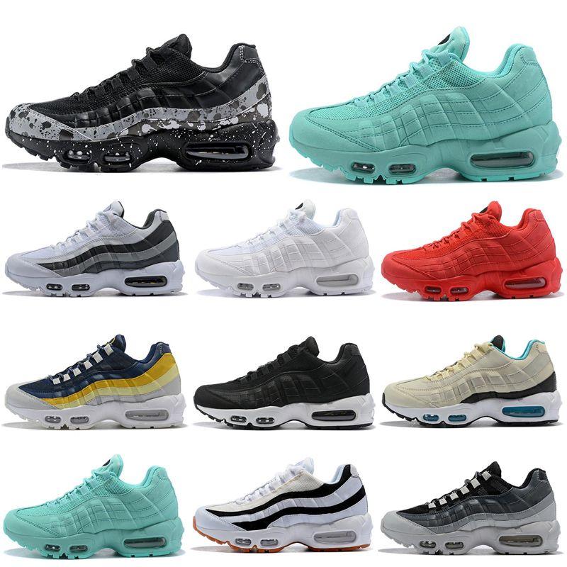 Conception innovante 6f8ae dd889 Nike Air Max 95 Shoes 2019 nouvelles chaussures de course ont un jour  anthracite triple noir blanc rouge rose bleu gris femmes hommes formateur  ...