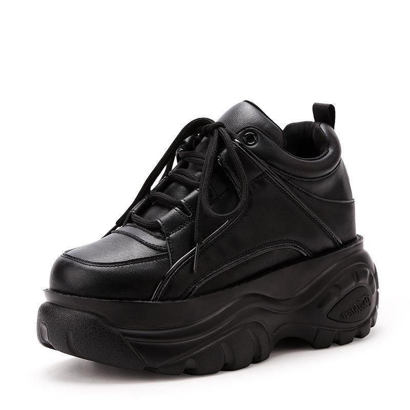 589b0b757 Ultra liviano 2018 Nuevo otoño invierno Mantén tu mujer cálida Zapatillas  bajas gruesas de moda Cómodas damas Zapatos con cordones casuales