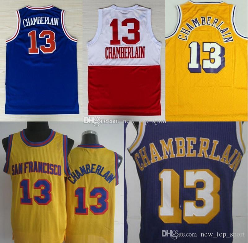 020b61eda NCAA Los Angeles 13 Wilt Chamberlain Jerseys Lakers Uniforms Rev 30 New  Material Shirt Home Yellow Purple White Blue Online with  30.21 Piece on ...