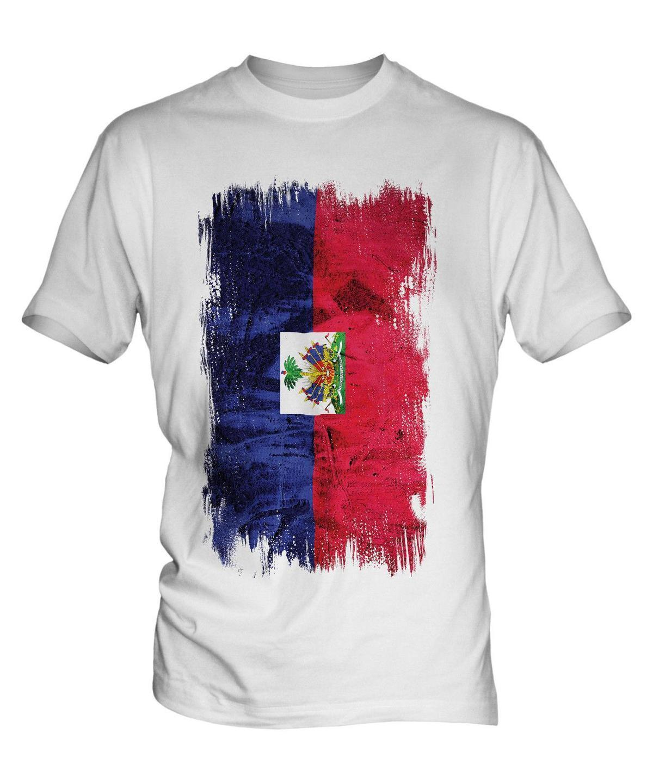 1184c5d98b6 HAITI GRUNGE FLAG MENS T SHIRT TEE TOP HAÏTI HAITIAN AYITI SHIRT ...