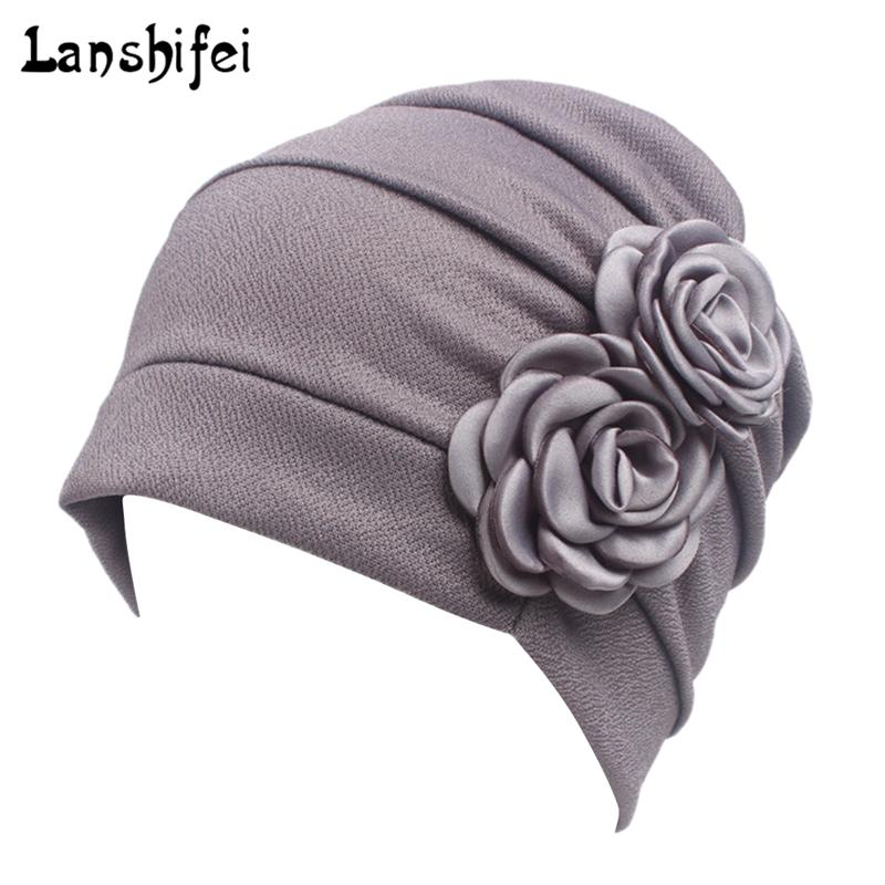 b39c6059afe Women Large Flower Model Headscarf Chemotherapy Cap Western Style Ruffle Cancer  Chemo Hat Beanie Scarf Turban Wrap Hedging Cap Y18110503 Women Hats Cool ...