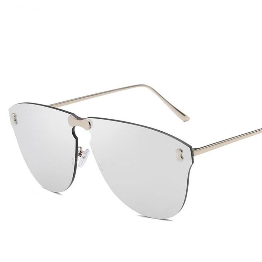b35797a18ea0 2019 Fashion Rimless Diamond Sunglasses Women Clear Gradient Lens Vintage  Polygon Slice Sun Glasses For Female Eyewear UV400 LJJS207 From Sport no1