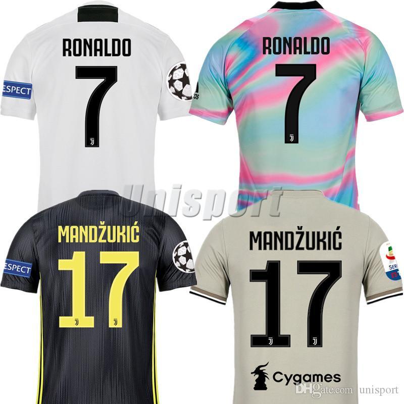 d4bf6515f Compre Juventus Juve 2018 19 Dybala Buffon Pjanic Higuaín Liga Dos Campeões  De Manga Comprida Camisas De Futebol Futbol Camisa Jerseys Camisetas Camisa  Kit ...