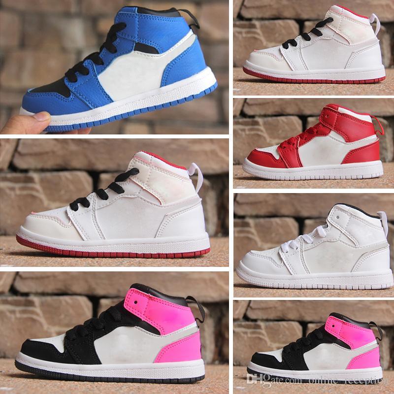 948320f3d Compre Calçados Infantis Sapatos De Basquete Atacado Novo 1 Jam Espaço 72  10 CNY 11 S Sneakers Crianças Sports Running Menina Formadores 28 35 De ...