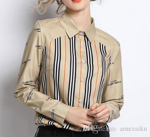 3c55e6ba88c9c6 2019 Vintage Blouse Ladies Office Shirts Womens Tops And Blouses Runway  Designer Tops High Quality Women Fashion 2019 Blusas Mujer From Amezaiku,  ...