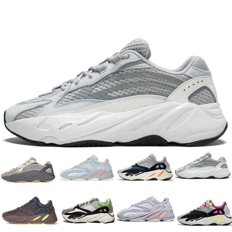 be86c498f4667 Compre Adidas Supreme Yeezy Boost 700 Wave Runner 700 Mens Running Shoes  Geode Static Malva Sal Sólido Gris Inercia Moda Tenis Mujer Deportes  Zapatillas De ...