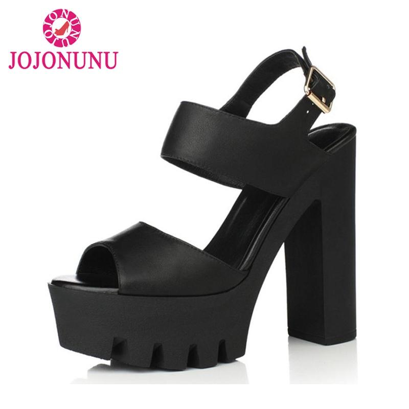 bc0d493eeb4 Wholesale Supper High Heels 12cm Women S Sandals Genuine Leather Open Toe  Summer Shoes Women Sexy Platform Sandals Size 34 39 Wedges Espadrilles From  ...