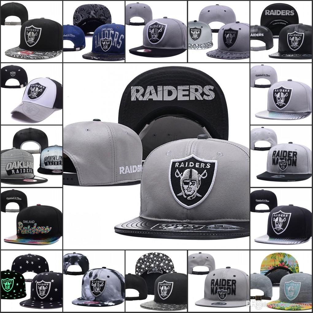 93b528e615a5c 2019 Oakland Adjustable Hats Raiders Embroidery Team Logo Snapback All Team  Wholeasle Knit Beanies Caps One Size Headwear Flat Caps From Newcaps