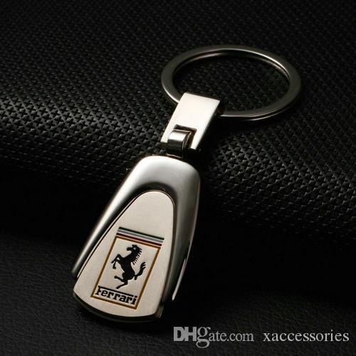 3D Metal Car Logo Keychain Keyring Key Chain Auto Key Ring Holder For  Ferrari Audi Car Styling Accessories