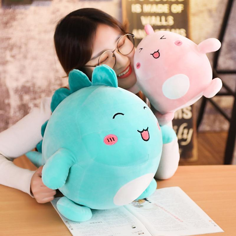 20170730 Hot Sales 30cm And 40cm Of Pig With PP Cotton Dinosaur Stuffed Animal Plush Toy Pillow Doll Birthday Gift