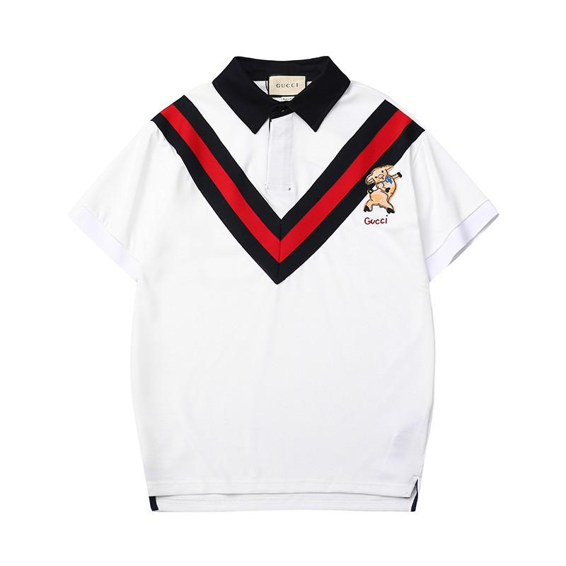 99144fb0c18 2019 2019 Latest Men Designer Polo Shirts Woman Tops TShirt Mens Clothing  Luxue Brand Embroidery Shirt Womens Clothes Size For S 2XL Streetwear From  ...