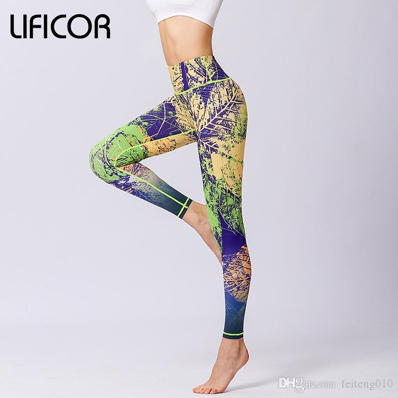 407b69ead1 2019 Women Yoga Pants Workout Leggings Fitness Running Leggins Sport Print  Athletic Pants Fitness Jeggings Gym Clothing Sweatpants #819168 From  Feiteng010, ...