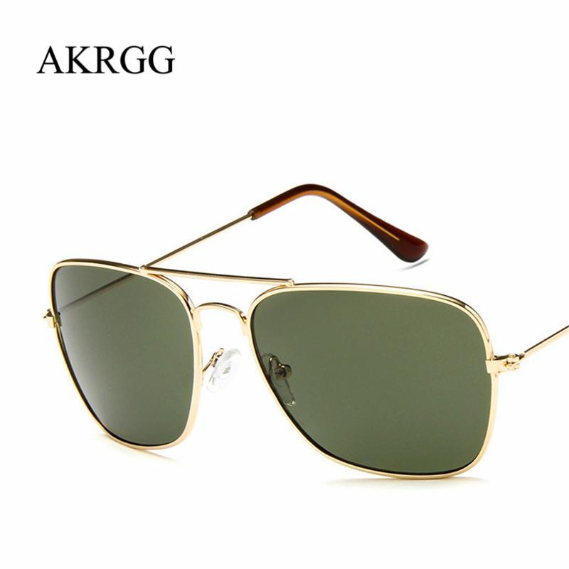 43389fdd822 Vintage Big Square Frame Sunglasses For Women Men Clear Colored Sun Glasses  Cute Ladies Eyewear Oculos UV400 Prescription Sunglasses Glasses Frames  From ...