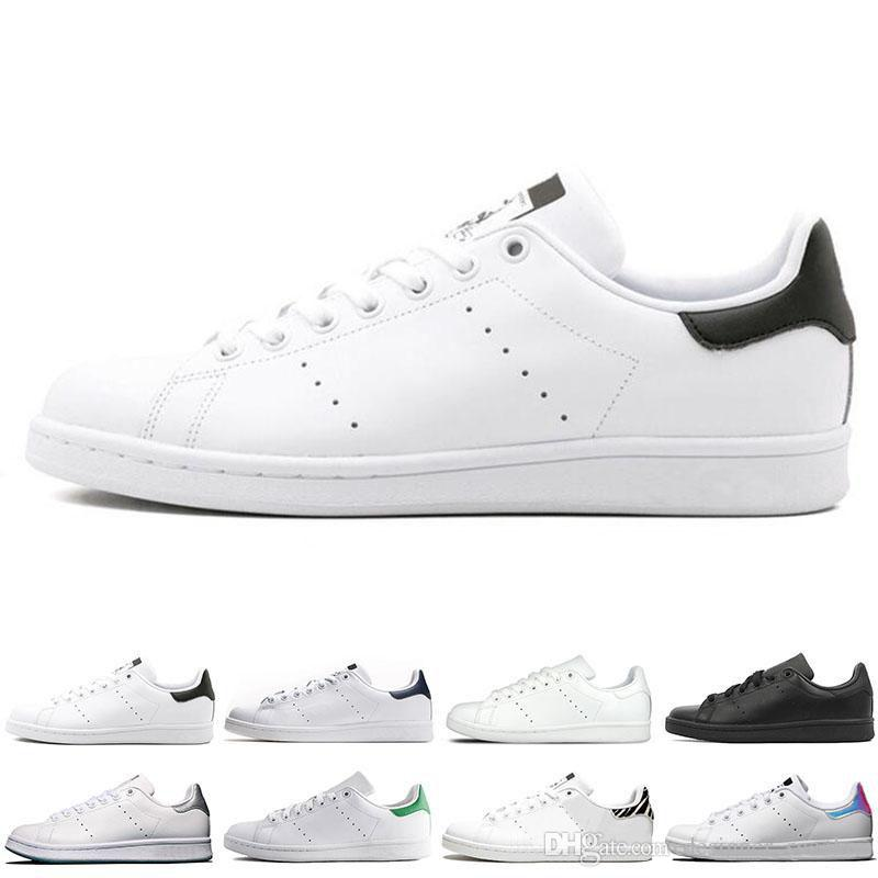 on sale 7c00b d450f Original stan smith men casual shoes leather 2019 new Chaussures smith  green black white blue women stan smith shoes sneakers
