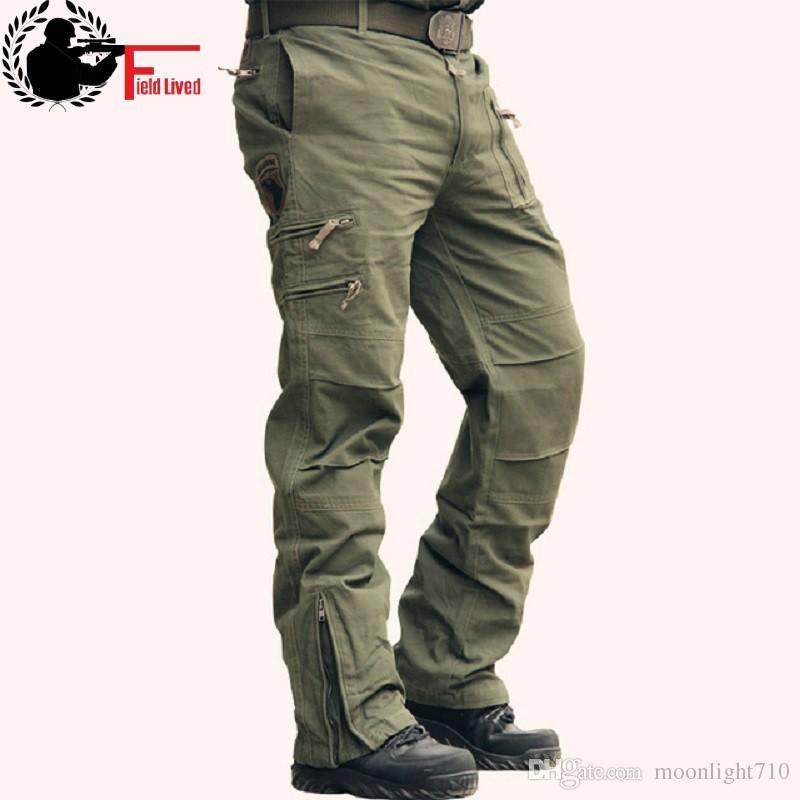 d246bfb23b Compre Pantalones Tácticos Hombre Camo Jogger Pantalón De Algodón Casual  Plus Size Pantalones De Múltiples Bolsillos Estilo Militar Ejército  Camuflaje ...