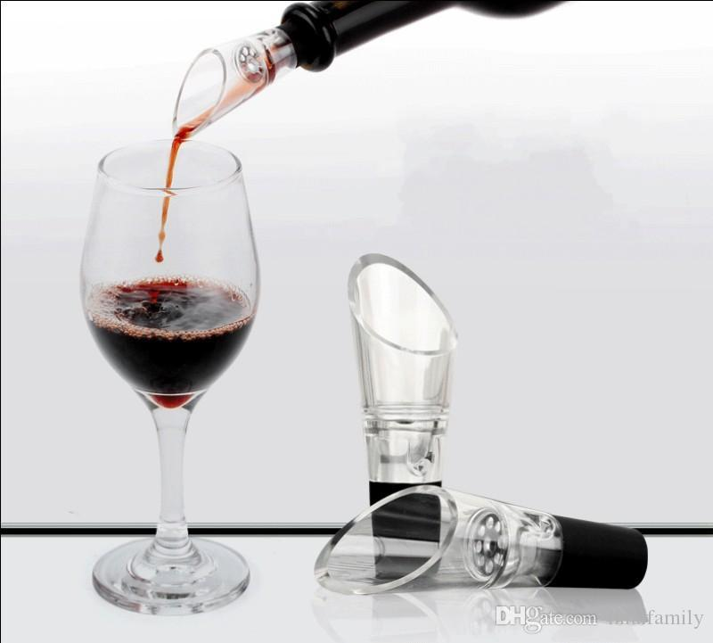 Durable Wine Aerator With Stainless Steel Strainer Red Wines Pourers Wide Mouth Design Plastic Spout Decanter Portable
