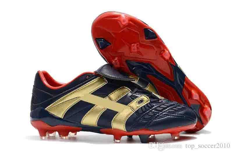 2019 New High Quality Gold Red Soccer Cleats Predator Accelerator Electricity FG SIZE EUR39-45 Soccer Shoes