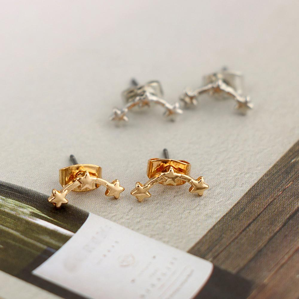 af39b29e9a2be 2018 New Gold/ Silver Earrings Fashion Alloy Earrings Ear Ring Combination  Of Fashion Simple For Ladies Gifts #116