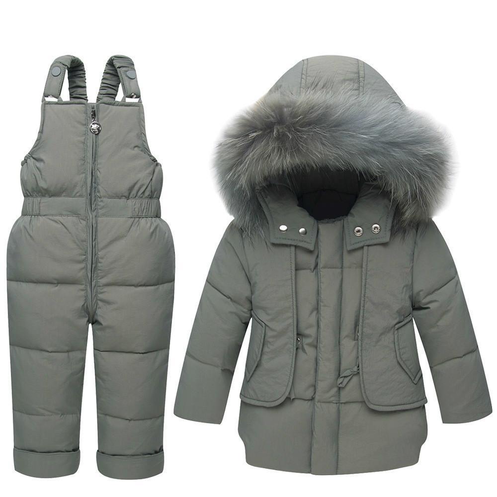4e9fd16041c5 Toddler Boys Clothing Set Winter Coats With Fur Hood 2018 Newborn ...