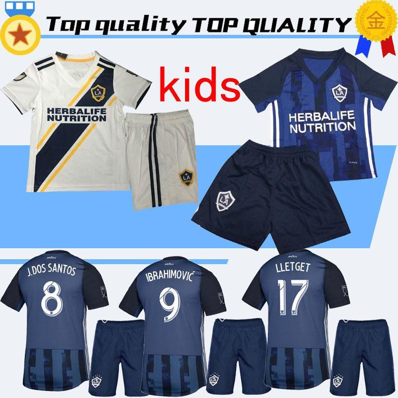 new product c59e4 f280d LA Galaxy kids kit +socks 2019 kids Soccer jersey Los Angeles Camisa  Ibrahimovic ALESSNDRINI J.DOS SANTOS child kit football shirt uniforms