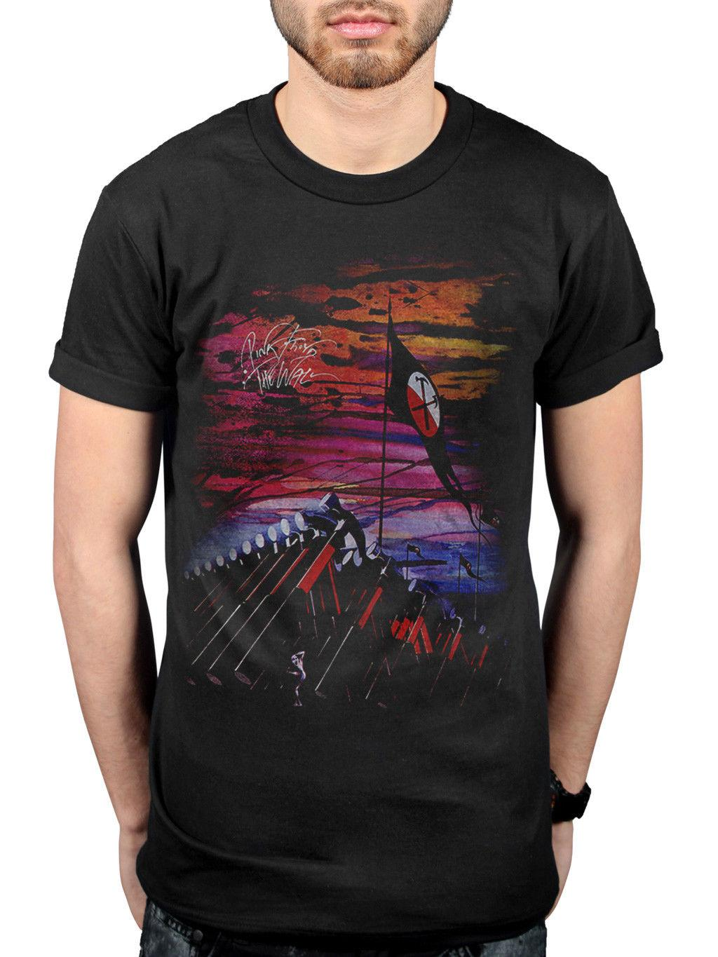 183bcbebf92 Official Pink Floyd The Wall Flag Hammers T Shirt Obscured By Clouds The  EndlessFunny Unisex Casual Tshirt Dirty T Shirts Graphic Tee Shirts From ...