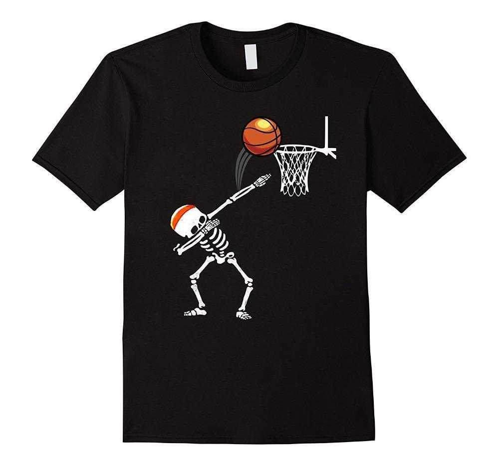 0c5d67af1 Compre Melhores Sites De Camisa De T Dos Homens Do Dia Das Bruxas Dabbing  Skeleton Basketballer O Pescoço De Algodão De Manga Curta Camisas De  Yubin09