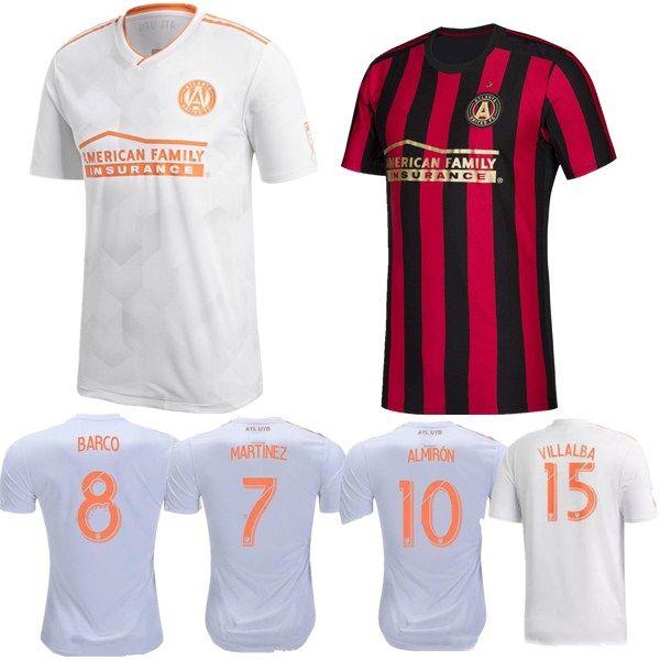 buy popular 099bf 0ec90 ^_^MLS Atlanta United Soccer Jersey Men Team FC 24 GRESSEL 5 PIREZ 3  PARKHURST 16 McCANN 1 GUZAN Football Shirt Kits Make Custom