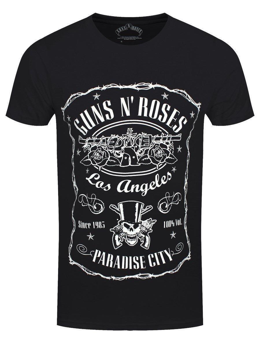 71605899d Guns N Roses Paradise City Men'S Black T Shirt 100% Cotton Short Sleeve O  Neck Tops Tee Shirts Men'S T Shirt 2019 Newest S 3xl T Shirt Shirts Shirts  And ...
