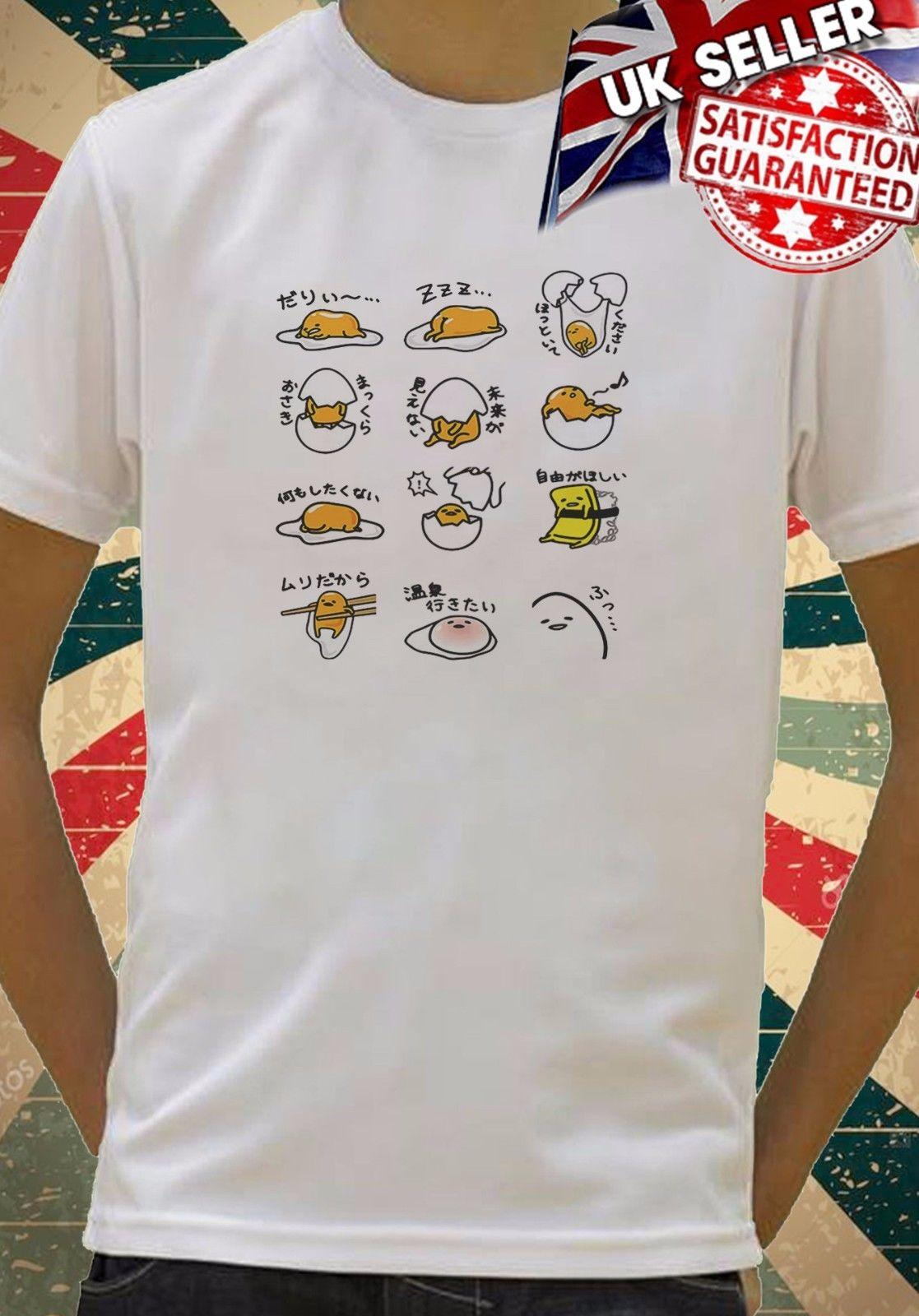 8c5fd5b3 Gudetama JAPANESE Lazy Egg Cool Kids Boys Girls Unisex Top T Shirt 660 Men  Women Unisex Fashion Tshirt Make T Shirts Online Tees Design From ...