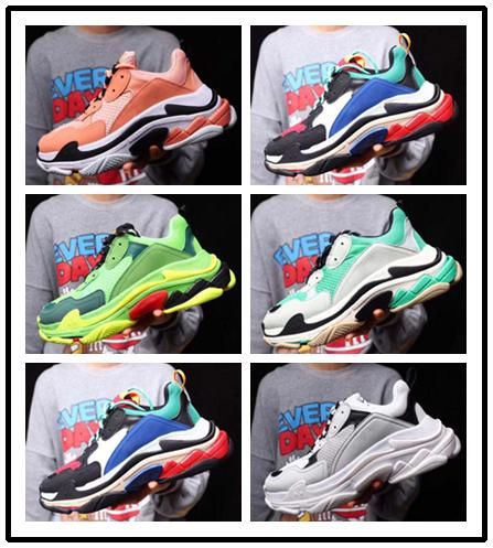 2019 New Designer casual Shoes Fashion Paris 17FW Triple S Sneakers top quality Casual Dad Mens Women Black white Sports Size 36-45
