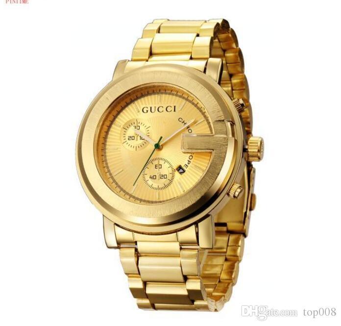Top Designer Brands Watch Men High Grade Business Luxurious Golden Strip Quartz Watch Women Folded High Quality Waterproof Watch