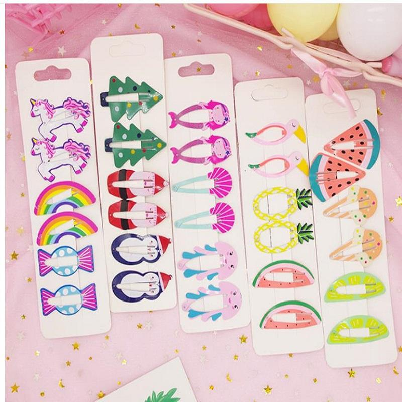 su010203 Korean print cute fruit hairpin girl paint princess cartoon hairpin