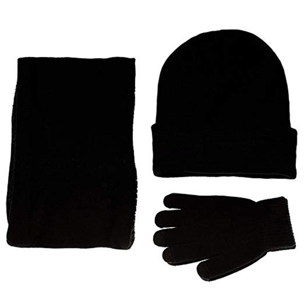 897b778a9d7 2019 Winter Warm Beanie Hat + Scarf + Touch Screen Gloves