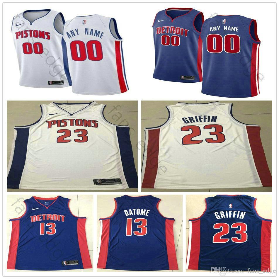 premium selection 9c8ff cae52 Printed Custom Detroit 3 Wallace 30 Ben Rasheed Billups Wallace 1 Chauncey  32 Richard 5 Luke Hamilton Kennard Pistons Basketball Jerseys