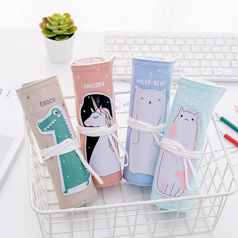 1PC Kawaii Unicorn Pencil Case Cute Candy Color Pencil Bag Novely PencilCase For Girls Kids School Office Stationery Supplies