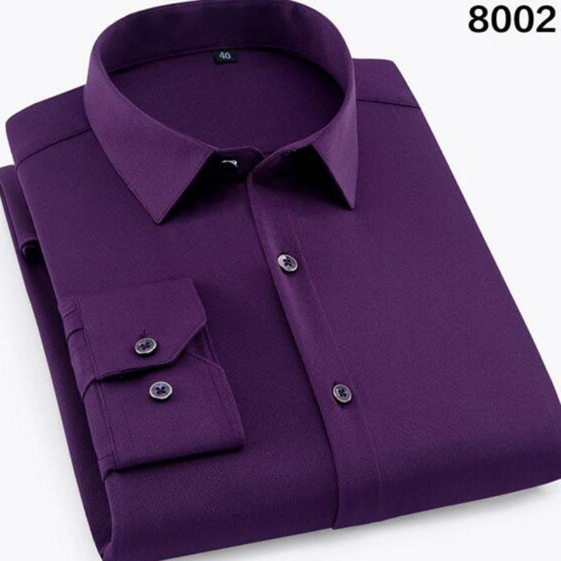 Men Long Sleeve Dress Formal Shirts Camisa,Turn-down Collar Hot Stamping Single Breasted Shirts Tops High Quality Size S-4XL